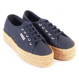 Navy Blue Superga Women's 2790-Cotropew Trainers